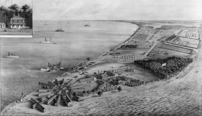 Point Lookout prison (image courtesy Southern Maryland Online)