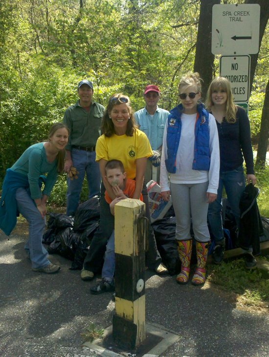 Spa Creek Conservancy members after cleanup