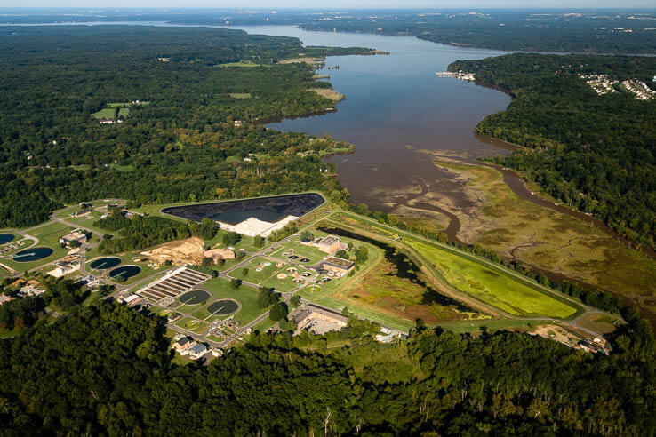 Picture of Wastewater treatment plant upgrades help reduce nitrogen pollution entering the Bay