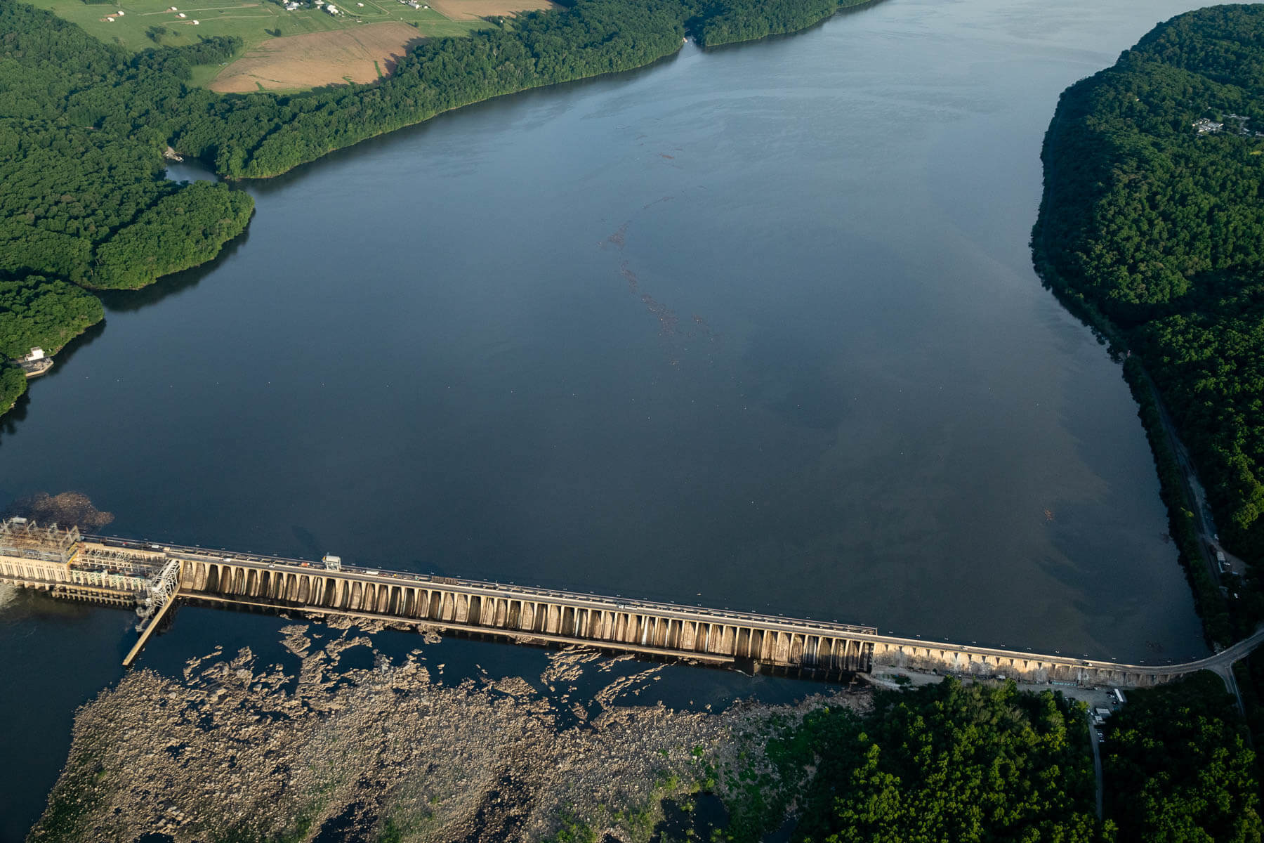 Conowingo Reservoir show from above.