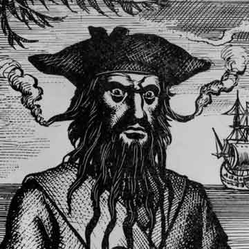 Blackbeard (Image courtesy Hulton Archive/Getty Images)