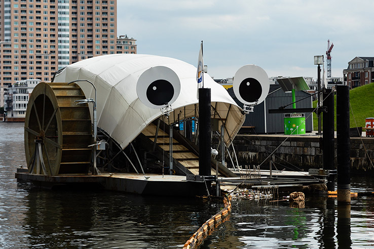 Picture of Mr. Trash Wheel gobbles up what we feed him