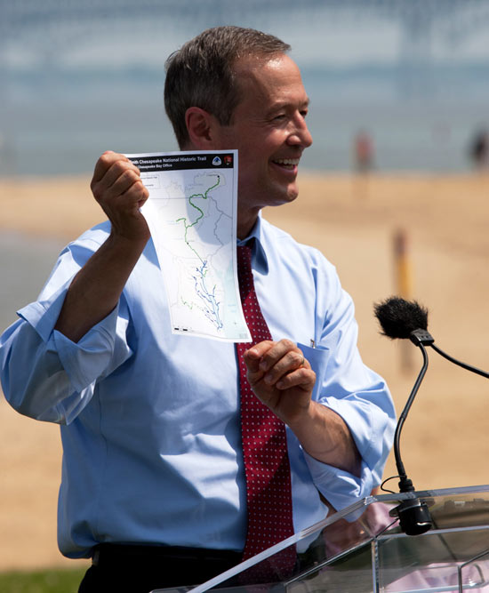 Maryland Governor Martin O'Malley talks about the Captain John Smith Trail.