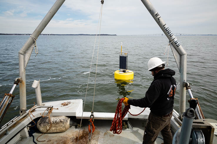 Picture of Satellites, solar-powered buoys and volunteers like you help monitor the Bay