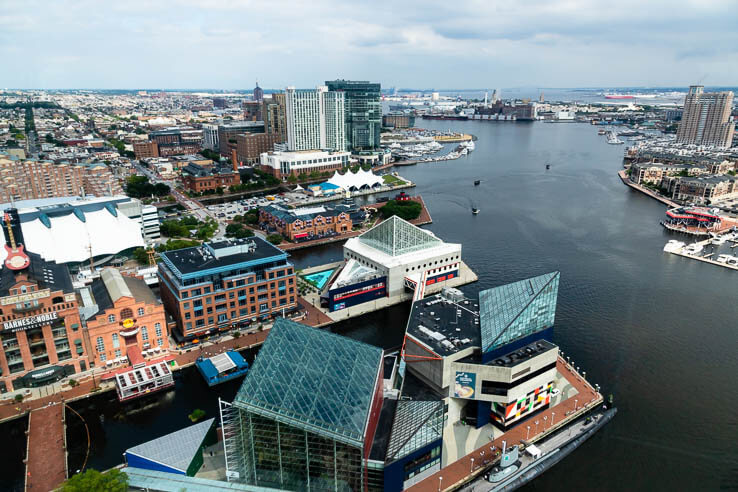 Picture of Baltimore's Inner Harbor shows a decade's worth of water quality improvements
