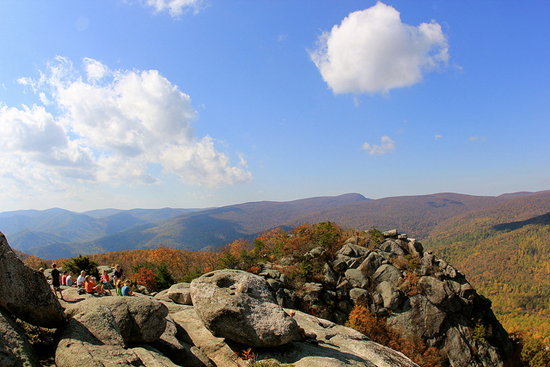 A view atop of Old Rag in Shenandoah National Park.