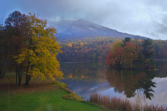 A view of Flat Top Mountain in Bedford,Virginia