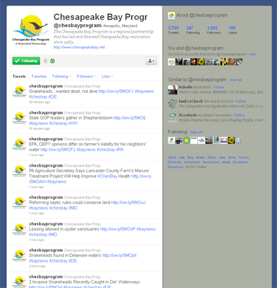 Chesapeake Bay Program Twitter feed
