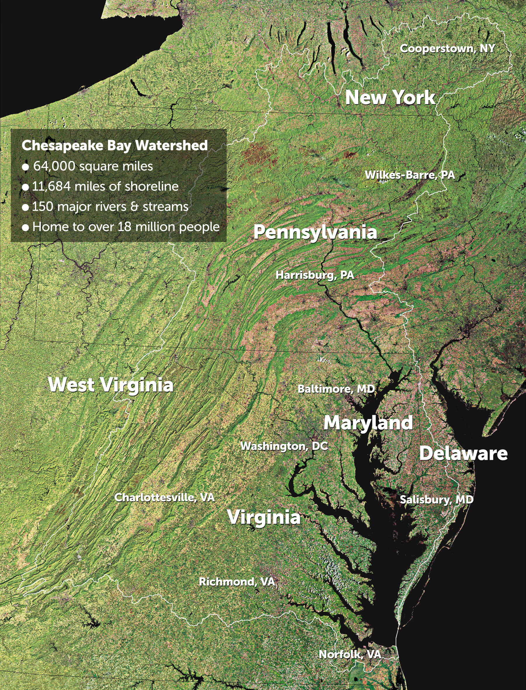 Picture of the Chesapeake Bay Watershed