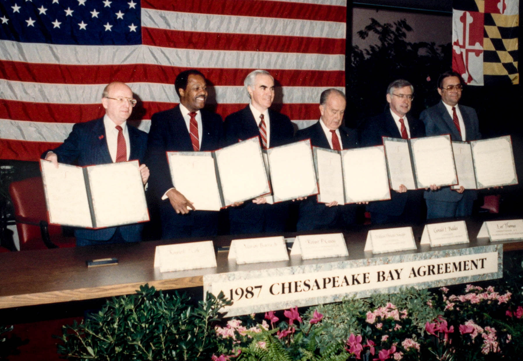 Picture of the 1987 Chesapeake Bay Agreement
