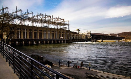"The Conowingo Dam is located on the lower Susquehanna River. While the reservoir behind the dam has long captured sediment flowing downstream, recent studies have drawn attention to the reservoir's changing effectiveness as a ""pollution gate."""
