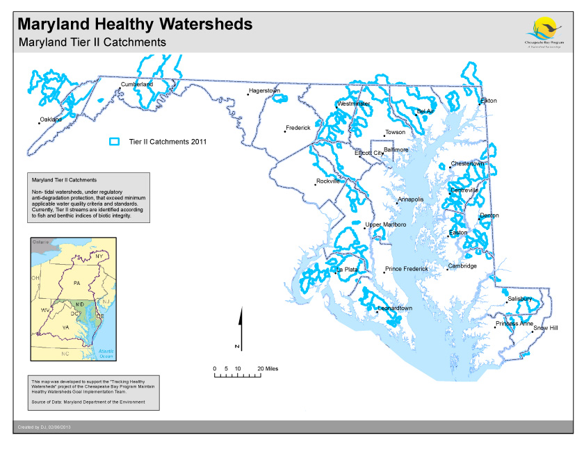 Maryland Tier II Catchments