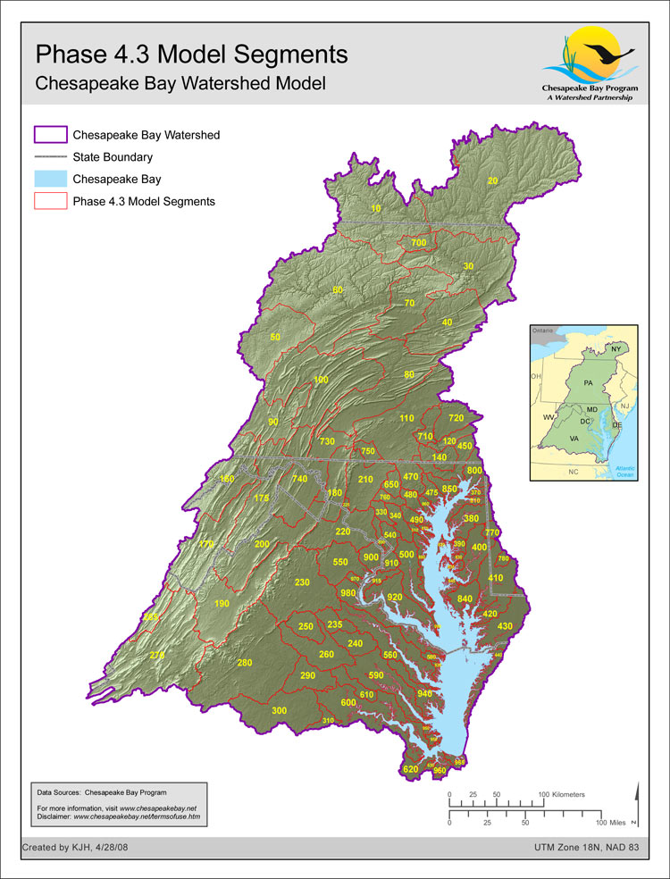Phase 4.3 Model Segmentation, Chesapeake Bay Watershed Model
