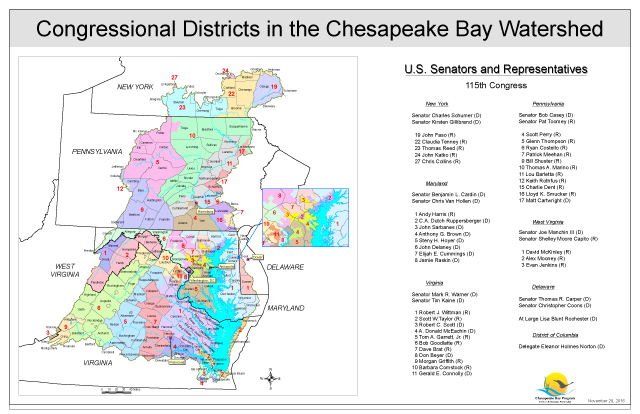Congressional Districts in the Chesapeake Bay Watershed