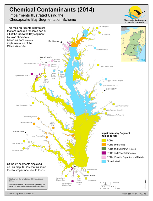 Chesapeake Bay On Map Of Usa.Maps Chesapeake Bay Program