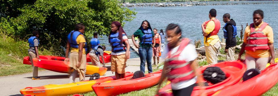 Getting kids in kayaks to foster stewardship and learning
